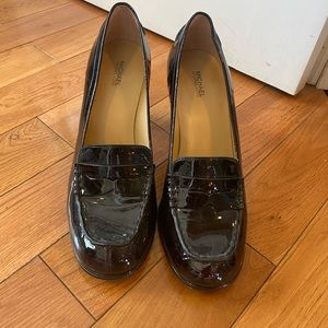 Michael Kors penny loafer heel